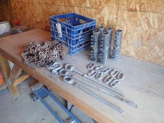 Qty Of Steel Rebar Couplers C/w Chain, Links And (2) Shackles