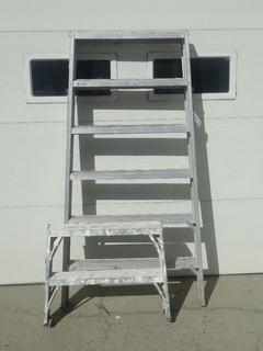 (1) 2ft Aluminum Sawhorses And (1) 6ft Aluminum Sawhorse