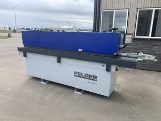 2016 Felder G480 Edge Bander C/w 3-phase, 230V, 18 Amp, Pre Milling, Corner Rounding And Glue Scrapers *NOTE: Located At 29 Goertz Ave. Stony Plain, Alberta. For More Info Contact Nick Alberda @780-902-0027*