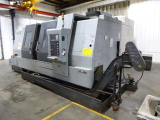 2012 Accuway CNC Machine, Model UT-400, SN 9856009, With Chip Conveyor And Spare Conveyor, Includes 3 Jaw Chuck, Multi-Tool Turrent, 3Phase 220V. *Buyer Responsible For Loadout*