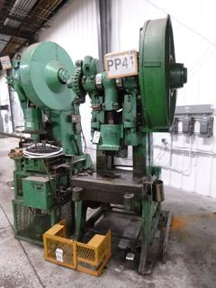 Johnson Punch Press, Model 5, With Feeder *Note: No Dies* *Buyer Responsible for Loadout*