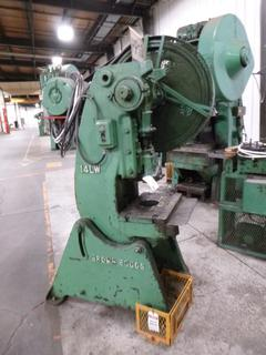 Brown Boggs Punch Press, Model 14LW, 30 Ton, *Note: No Dies And Damage To Die Holder* *Buyer Responsible for Loadout*