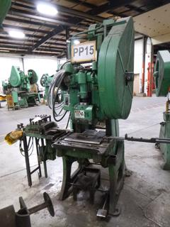 Hastings Punch Press, Model 3C *Note: No Dies* *Buyer Responsible for Loadout*