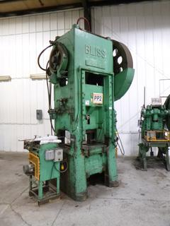 E.W. Bliss Punch Press, Model S1-100-24-30 With Feeder, *Note: No Dies* *Buyer Responsible for Loadout*