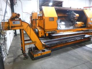 1982 Yamazaki Slant Turn CNC Machine, Model SL-60, SN 50963, Universal 2500 With Mayfran Chip-Tote Chip Conveyor, Includes 3 Jaw Chuck, Multi-Tool Turrent, Steady Rest, *Note: Still In Use June 2021* *Buyer Responsible For Loadout*