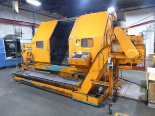1982 Yamazaki Slant Turn CNC Machine, Model L-60, SN 50274, Universal 2000 With Mayfran Chip-Tote Chip Conveyor, Includes 3 Jaw Chuck, Multi-Tool Turrent, *Note: Still In Use June 2021* *Buyer Responsible For Loadout*
