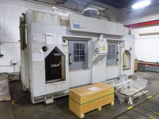 2013 EMAG Centre-Drive CNC Machine, Model USC27-380, SN 104112 With Manuals And Conveyor System, Includes Twin Multi-Tool Turrents, Overhead Unit, *Note: Complete Unit, Never Been Assembled in Canada, Requires Assembly* *Buyer Responsible For Loadout*