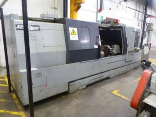 2012 Accuway CNC Machine, Model UT-300LX, SN 9555033, With Chip Conveyor, Includes 3 Jaw Chuck, Multi-Tool Turrent, 3Phase 220V. PL#12 *Buyer Responsible For Loadout*