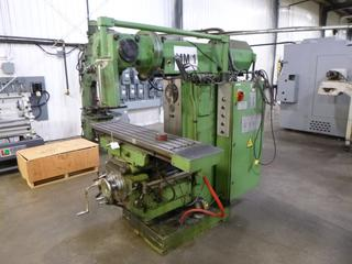 1989 Jagco Milling Machine, Model FWF32JU, SN 4076, Crate of Tooling *Buyer Responsible For Loadout*