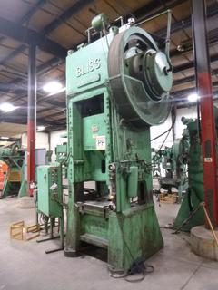 Bliss Punch Press, Model S1-150-27-33, 3-Phase, With 600 V Electrical Panel And Feeder, *Note: No Dies* *Buyer Responsible for Loadout*