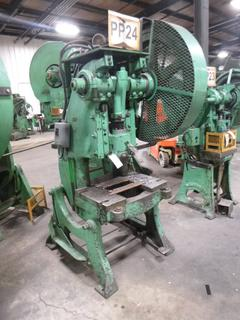 Brown Boggs Punch Press, Model No. 15, SN 1282 *Note: No Dies* *Buyer Responsible for Loadout*