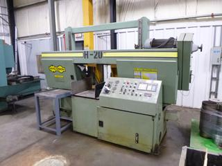 Hyd-Mech Horizontal Band Saw, Model H20 With Hyd-Mech PCL 100 Programmable Length Control *Buyer Responsible for Loadout*