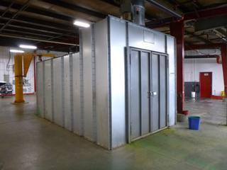 2015 Global Finishing Special Custom Industrial Paint Booth, Model 1DBG-100817-XB-SS, SN U59519A, 17 Ft. 5 In. x 125 In. x 10 Ft. *Buyer Responsible for Dismantling And Loadout*