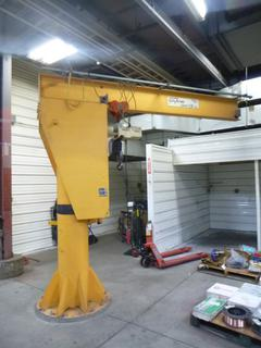 General Crane Jib Crane, 1.25 Ton Capacity, 10 Ft. (L) x 9.5 Ft. (H), SN 1379, With Coffing JLC Hoist, *Last Inspected Nov. 2020* *Buyer Responsible for Dismantling And Loadout*