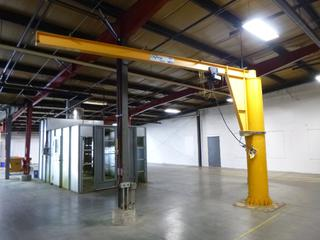 General Crane Jib Crane, 19 Ft. (L) x 12 Ft. (H), SN 20979 With SWF Hoist, 500 Lbs. Capacity, *Last Inspected Feb. 2021* *Buyer Responsible for Dismantling And Loadout*