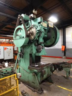 Blow Press Model No. 7 Punch Press, 100 Ton Capacity, SN 7075, With Dual Feeders, *Note: No Dies* *Buyer Responsible for Loadout*