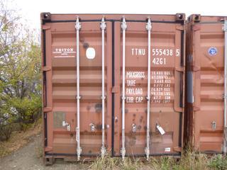 2002 Timber 40 Ft. Seacan, SN TTNU 5554385, *Buyer Responsible for Loadout*