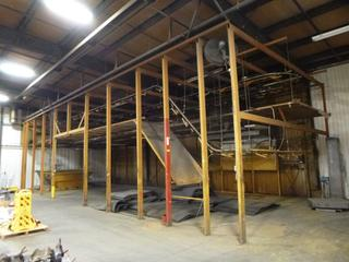 Electric Paint Track With Hangers, Exhaust Fan, Lighting, Dip Tray, 72 Ft. x 24 Ft. Holder Size *Buyer Responsible for Dismantling And Loadout*