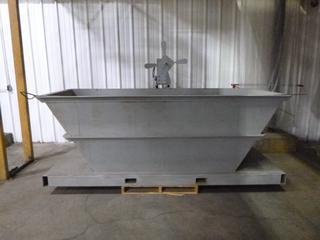 Unused Skid Mounted Dip Tank With Electric Agitator