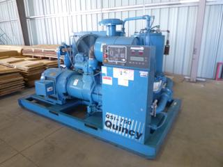 Quincy Screw Compressor, Model QSI-750ANA42EE, 200 HP, 575 Volt, 3-Phase, Showing 30,885 Hours, SN 90836J, Skid Mounted, 116 In. x 68 In.
