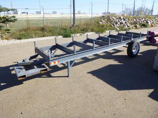 Custom Built Pipe Trailer For Fork Lift, ST205/75R14 Tires, 15 Ft. x 3 Ft 4 In.