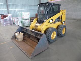 2012 Caterpillar 236B3 Skid Steer, Cat C3.4 Engine, Showing 1,638 Hours, Cab, Heater, Joystick, Aux. Hydraulics, 84 In. Clean Up Bucket, 12x16.5 Tires, SN CAT0236BVA9H02294