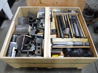 Crate of Various Tooling for Hwacheon And Accuway UT-400 CNC Machines