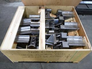 Crate of Various Tooling and Jaws for Hwacheon And Accuway UT-400 CNC Machines