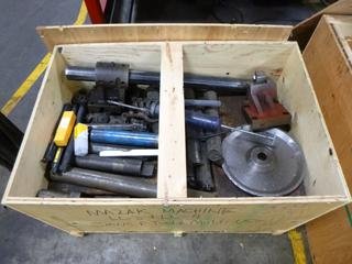 Crate of Various Jaws and Multi Use Tools for Mazak CNC Machines