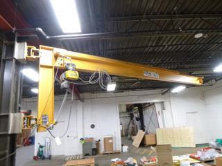 General Crane, 1/2 Ton Jib Crane Arm, GIS Electric Hoist, 19 Ft., SN 1278, *Last Inspection Feb. 2020*