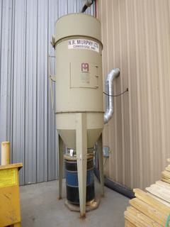 N.R. Murphy Dust Collector, 480 V, Includes Ducting and Control Box, 139 In. x 3 Ft.