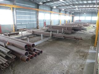 Qty of Metered L80 Piping: 4.5 x 2.4, Approx. 80 Ft., 5.984 x 3.417, Approx. 195 Ft, 5 x 3.892, Approx. 225 Ft., and 5.2 x 3.247, Approx. 120 Ft. *MTRs Are Available Upon Request* **Note: Buyer Responsible for Load Out*