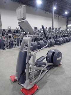 Precor Model EFX 800 Series Elliptical Cross-Trainer C/w 15in LCD Monitor. SN ADFXC25130031 *Note: No AC Adapter*