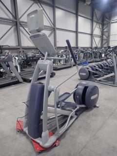 Precor EFX 800 Series Elliptical Cross-Trainer w/ 15in LCD Monitor And AC Adapter. SN ADFXB20130028.