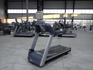 Precor TRM 800 Series 16.0Amp 1980W 120V Treadmill C/w 4.16Amp 12V 15in LCD Monitor And 20A Plugin. SN AMWZC07130011