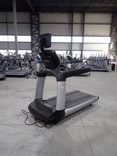 Life Fitness 95TS 18.0Amp 120V Treadmill C/w 15in Monitor And 20A Plugin. SN AST118086 *Note: Plastic Needs To Be Snapped Back On*