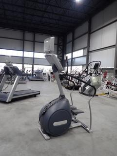 Precor CLM 835 Stair Stepper w/ 15in LCD Monitor And Ac Adapter. SN AB34G22150003