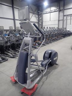 Precor EFX 800 Series Elliptical Cross-Trainer w/ 15in LCD Monitor And AC Adapter. SN ADFXF1713003 *Note: No Plugin*