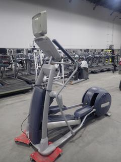 Precor 800 Series Elliptical Cross-Trainer w/ 15in LCD Monitor, Plugin And AC Adapter. SN ADFXC11130045