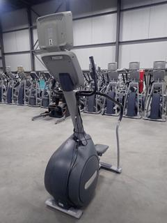 Precor CLM 835 Stair Stepper C/w 15in LCD Monitor, Plugin And AC Adapter. SN AB34B28130003