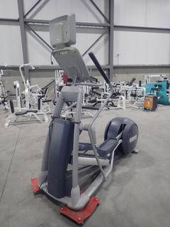 Precor Model EFX 800 Series Elliptical Cross-Trainer w/ 15in LCD Monitor And AC Adapter. SN ADFXC25130027