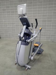 Precor AMT 100i Adaptive Motion Trainer w/ Cardio Theater Monitor. SN A927K18080055 *Note: Damage On Screen, This Item Is Located At 7103 68AVE NW- Location 2*