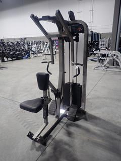 Life Fitness Seated Row Machine w/ 300lb Max Weight Cap. SN PSRWSE-PRO2000001025