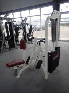 Life Fitness SU55 Seated Row Machine w/ 255lb Max Weight Cap. SN 47991