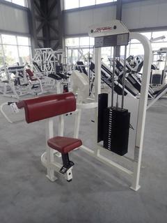 Life Fitness SU75 Arm Curl Machine w/ 190lb Max Weight Cap. SN 70443