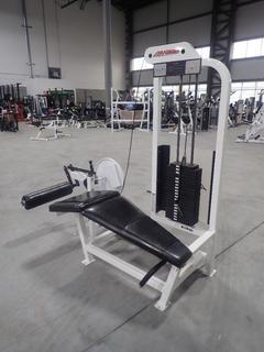 Life Fitness SL30 Leg Curl Machine w/ 190lb Max Weight Cap. SN 106561
