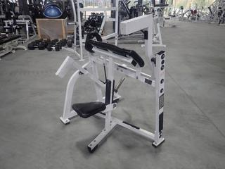 Hammer Strength Plate Loaded Bicep Curl Machine w/ Adjustable Height Seat