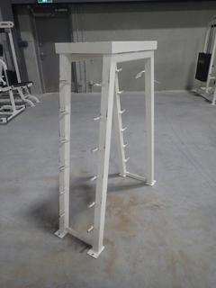 Apex 12-Section Barbell Rack