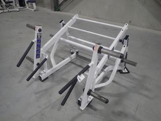 Hammer Strength Ground Base Squat/Lunge Machine w/ 45lb Start Weight. SN 0740