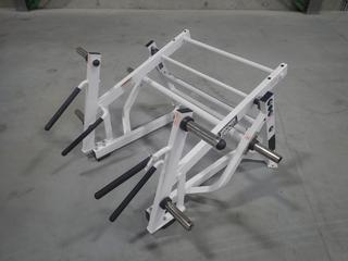 Hammer Strength Ground Base Squat/Lunge Machine w/ 45lb Start Weight. SN 0348